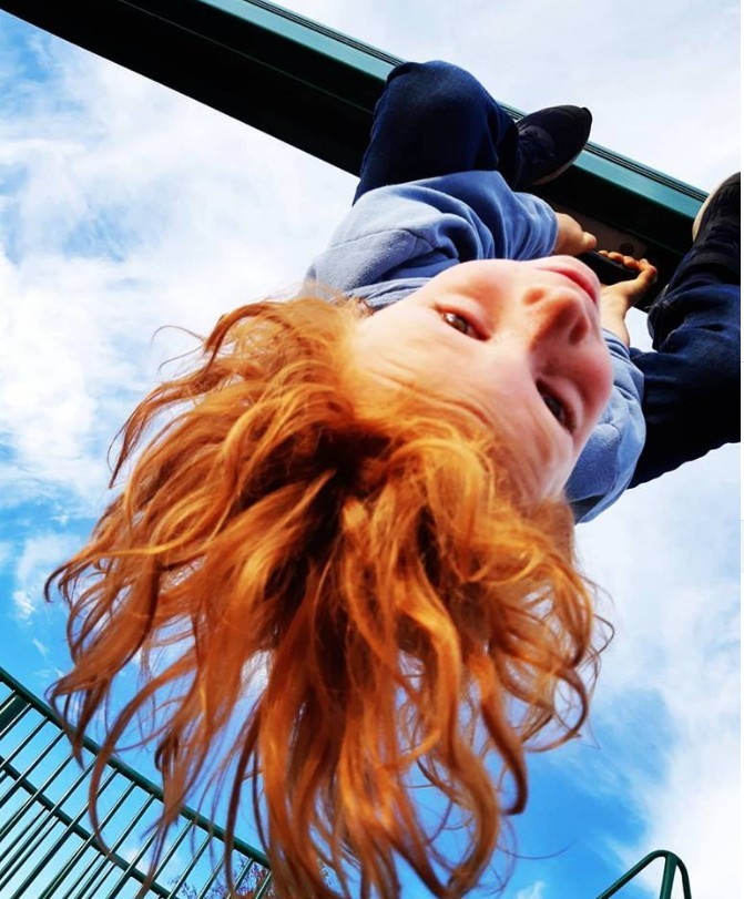 upside down ginger cutie